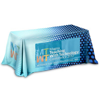 3-Sided Throw Style Table Covers All Over Full Color Dye Sublimation Imprint - Fits 8 Foot Table